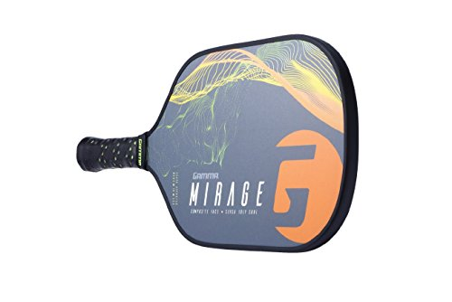 Gamma Mirage Composite Pickleball Paddle: Pickle Ball Paddles for Indoor & Outdoor Play - USAPA Approved Racquet for Adults & Kids - Orange/Green by Gamma (Image #5)