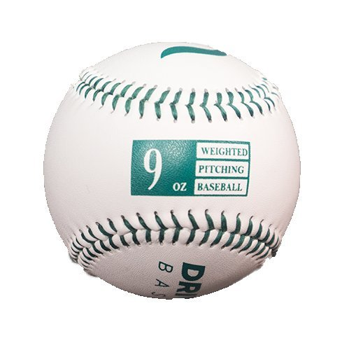 Driveline Leather Weighted Baseballs: Green, 9oz