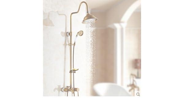 GOWE columna de ducha de latón envejecido bañera grifo mezclador ...