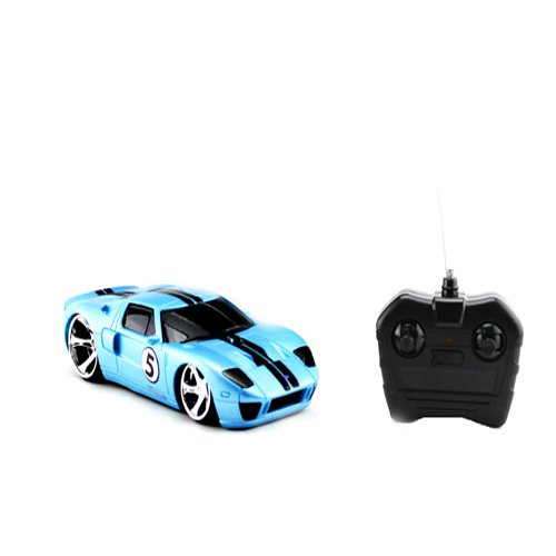 XTR Toys XST Blue Radio Control R/C Ford GT Models Car Vehicle Hobby Full Function Electric 1:24 Scale Ready to Run RTR 27MHz
