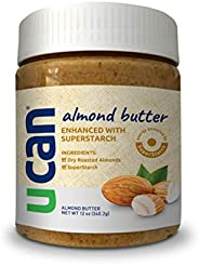 UCAN Almond Butter with SuperStarch - Performance Nut Butter - Unsalted, Sugar-Free Almond Butter - Non-GMO -
