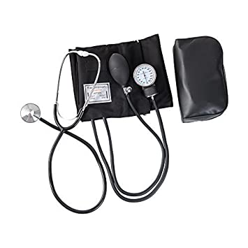 HealthSmart Home Blood Pressure Kit with Manual Sphygmomanometer, Stethoscope and Carrying Case, Large Adult