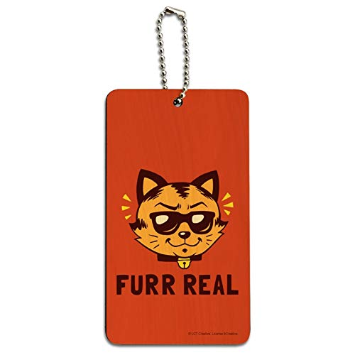 Furr Real Cat For Funny Humor Wood Luggage -