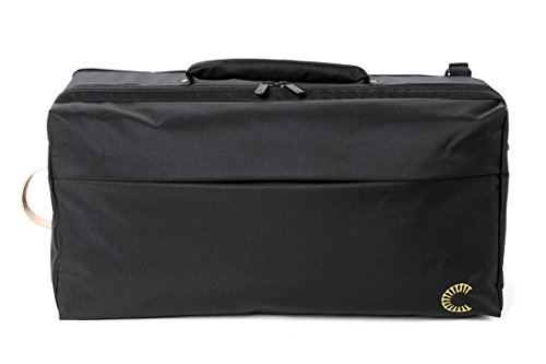 Curtis Bags Insulation Trumpet Double Bags One Size Black_Black Leather Trim by Curtis Bags