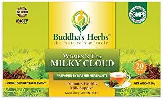 Milky Cloud Tea - Herbal Lactation Tea for Breast Feeding WOMEN - Mothers Milk Tea - Nursing Tea - 20 COUNT TEA BAGS (4 Pack)