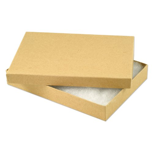 - Kraft Paper Cotton Filled Jewelry Box #75 (Pack of 10)