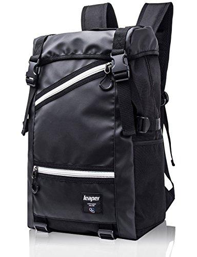 Leaper Heavy Duty Water Resistance Sport Backpack Travel Hiking Rucksack Multifunction Camping Bag (Black)