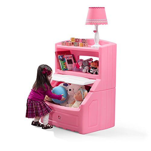 Step2 Lift and Hide Bookcase Storage Chest, Pink (Little Tikes Toy Chest)
