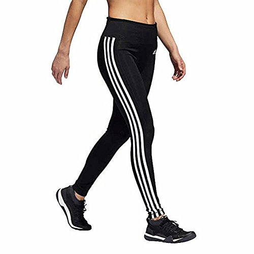 adidas Womens 3 Stripe Active Tights (L, Black/White)