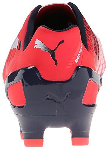 Puma Mens Evospeed 2.3 Chaussure De Football Au Sol Ferme Plasma Brillant / Blanc / Caban