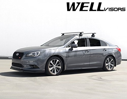 - WellVisors Replacement 2015-Present Subaru Legacy Side Rain Guard Window Visors Deflectors Chrome Trim 3-847SU014
