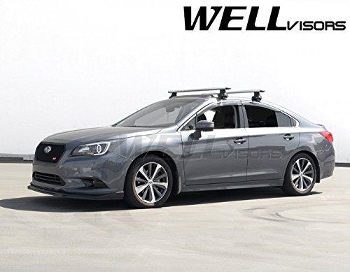 WellVisors Replacement 2015-Present Subaru Legacy Side Rain Guard Window Visors Deflectors Chrome Trim 3-847SU014 (Chrome Legacy Trim Subaru)