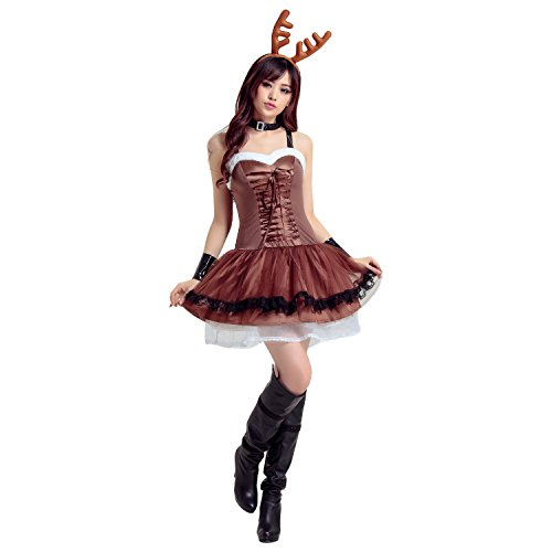 Sven Costume For Dog (Haocloth Adult Christmas Elk Dress Christmas Costume Santa Claus Reindeer Dress)