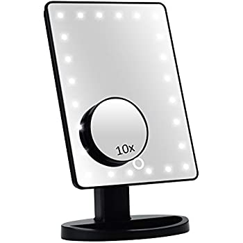 Amazon Com Led Lighted Vanity Makeup Desktop Mirror Black Beauty