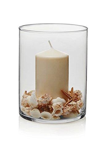Libbey Cylinder 2 Piece Wide Vase Set, Clear, (Large Glass Cylinder)