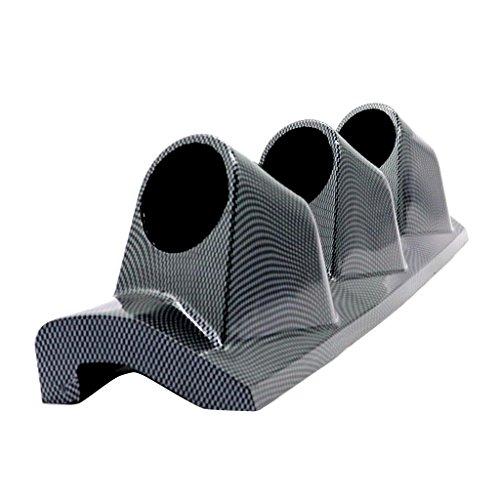 D DOLITY Right 52mm Auto Car A Pillar Pod Triple Gauge Holder Mount Pod - Carbon ()