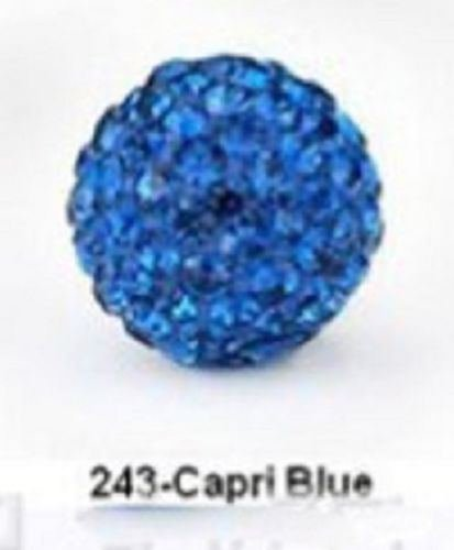 Capri Cabinet Pull (10pcs Crystal 10MM beads FOR Pave Disco Balls Capri blue color)
