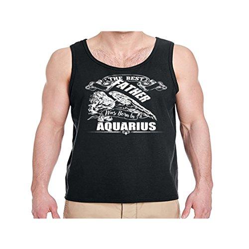 Men's The Best Father was Born in Aquarius Shirt - Aquarius Tank Top