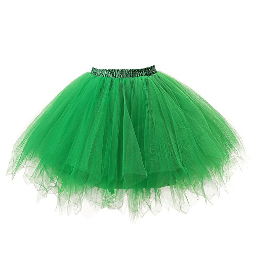 [Honeystore Women's Tutu Petticoat Skirt Prom Evening Occasion Accessory Green] (Fat Lady Costumes)