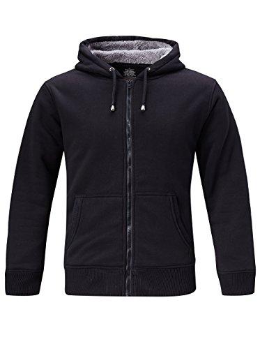 Men's Zip Front Heavy Blend Adult Hooded Sweatshirt Black-1 (1 Adult Hooded Sweatshirt)
