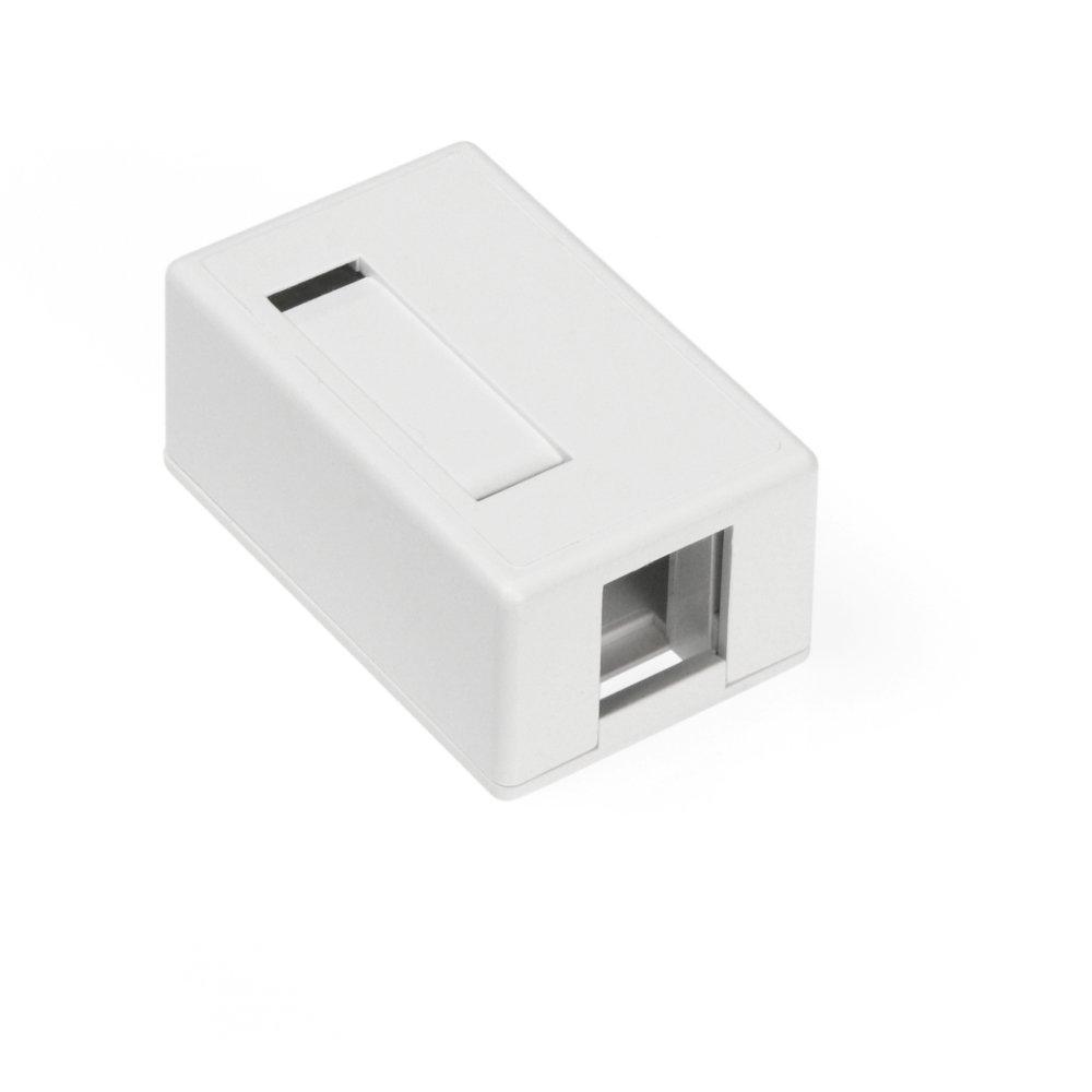 Leviton 41089-1WP 1-Port QuickPort Surface Mount Housing - White (Pkg of 5)