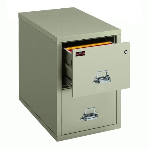 Fire King TwoHour Rated Fireproof Two Drawer Vertical Letter ()