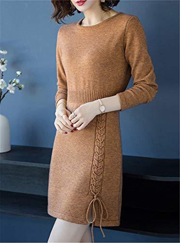 Pull Cachemire Femmes Pulls Brown Robes Cwxdian En aRq0xt1