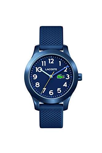 Lacoste Kids' TR90 Quartz Watch with Rubber Strap, Blue, 14 (Model: 2030002) (Watches Lacoste)