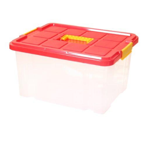 Axentia 235872 Unibox mit Deckel 27 Liter, 44 x 35 x 24 cm
