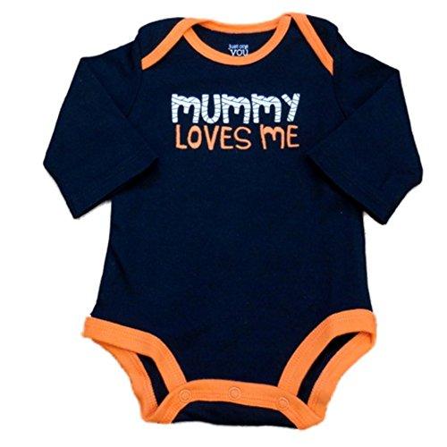Carter's Infant Boy Black Mummy Loves Me Halloween Creeper Bodysuit 3m ()