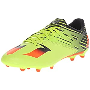adidas Performance Men's Messi 15.3 Soccer Shoe,Semi Solar Slime/Solar Red/Black,13 M US