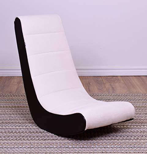(Crew Furniture Classic Video Rocker Gaming Chair, Moonbeam)