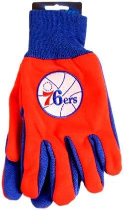 Red//Blue NBA Philadelphia 76ers Two-Tone Gloves