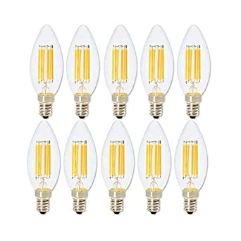 Bombilla LED de 6 W E14 lámpara LED Bombilla Filamento Vela Luce Para Lámpara de Araña ...