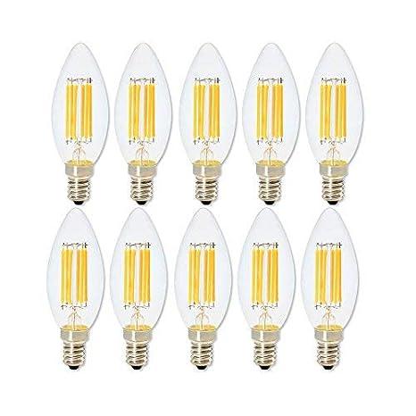 Bombilla LED de 6 W E14 lámpara LED Bombilla Filamento Vela Luce Para Lámpara de Araña