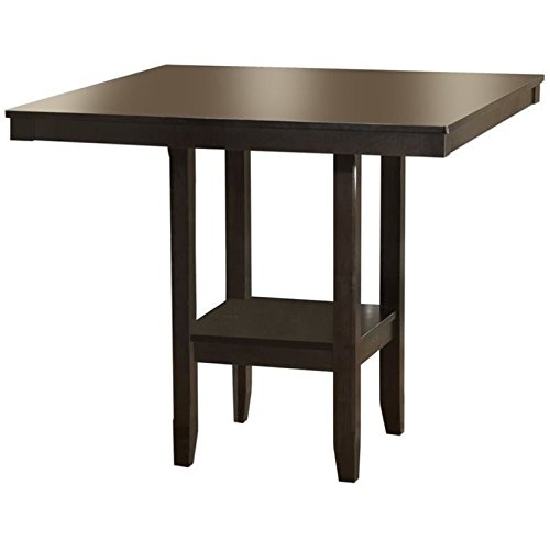 - Hawthorne Collections Square Counter Height Dining Table in Espresso