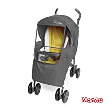 [Manito] Elegance Plus Cover / Cover for Baby Stroller and Pushchair, Rain Cover, Wind Weather Shield for outdoor strolling, Eye Protective Wide Windows (Grey)
