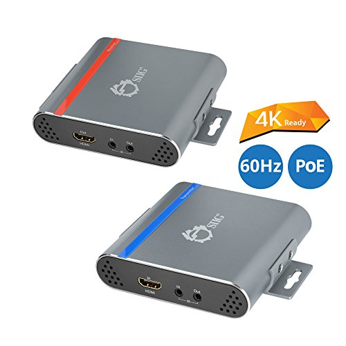 SIIG HDBaseT HDMI Extender 4K (YUV 4:2:0) Ultra HD Over Single CAT5e/6 with Bi-directional IR Up to 70M (230ft) - Power Over Cable (PoC) Feature - Uncompressed with no Latency