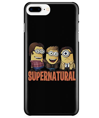 iPhone 7 Plus/7s Plus/8 Plus Case, Team Minchester Minion Supernatural Case for Apple iPhone 7 Plus/7s Plus/8 Plus, Supernatural Winchester iPhone Case (iPhone 7 Plus/7s Plus/8 Plus Case - Black)
