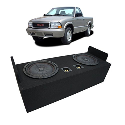 "Fits 1982-2004 GMC Sonoma Extended Cab Truck Kicker CompVT CVT12 Dual 12"" Sub Box Enclosure - Final 2 Ohm"