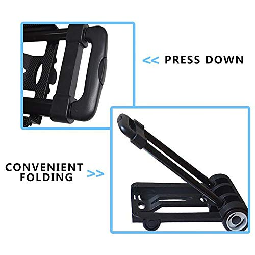 Luggage Cart Folding Hand Truck, 40 Kg Heavy Duty 4-Wheel Solid Construction Utility Cart Compact And Lightweight For Luggage, Personal, Travel, Auto, Moving And Office Use - Portable Fold Up Dolly,Lu by DW&H (Image #2)