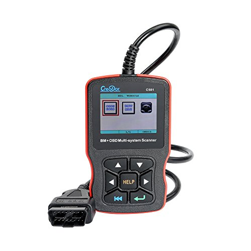 CREATOR 2017 C501 OBD2 Scanner Code reader,Multi-System Scan Tool with Card Reader for BMW & OBDII/EOBD
