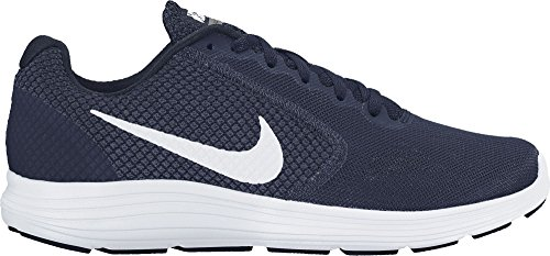 Nike Herren Revolution 3 Laufschuhe, Grau Blau (Midnight Navy/White/Obsidian)