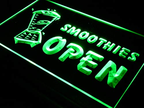 Smoothies Led Sign - ADVPRO Open Smoothies Drink Smoothie LED Neon Sign Green 16