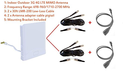 3G 4G LTE Indoor Outdoor wide band MIMO Antenna for Vodafone K5160 Connect USB speed 6 Dongle by maxmostcom