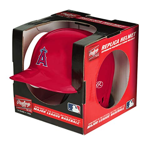 (Rawlings MLB Los Angeles Angels Mini Replica Helmet, Red)