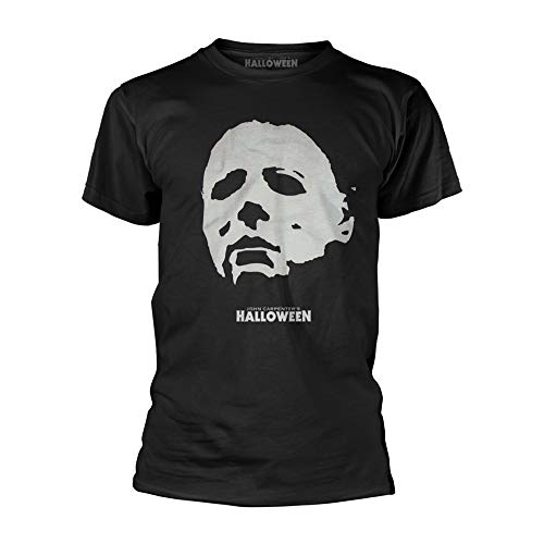 John Carpenters Halloween Michael Myers Mask Official Tee T-Shirt Mens Unisex (Small) -