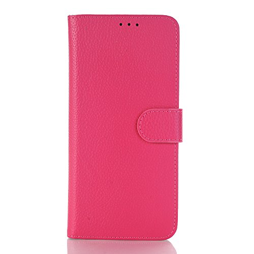 TechCode S8 plus Samsung Case with Card Holder, Multi Function Wallet Card Slots Handbag PU Leather Stand Purse Cell Phone Cover Magnetic Pouch For Samsung Galaxy S8+/S8 Plus 6.2 inch(Hot Pink) by TechCode