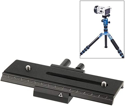 Black MDYHMC AYSMG 2-Way Macro Focus Rail Slider Long-Type Tripod Head Plate