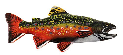 Creative Pewter Designs Brook Trout Fish Premium Freshwater Fish Hand Painted Lapel Pin, Brooch, Jewelry, FP006PR
